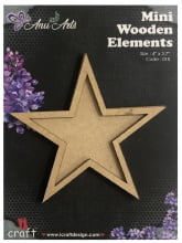 Icraft Mini wooden elements 018 (ster)