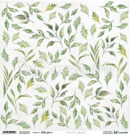 Designpapier Leaves 4  - 30.5x30.5 - per vel