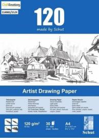 Schut Artist Drawing Paper 120 gram A4 bloc a 30 vel