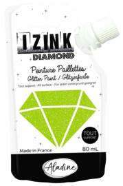 IZINK Diamond glitterverf/pasta - 80 ml, lichtgroen