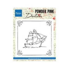 Marianne Design Clear Stamps - Powder Pink Dutch Sailboat PP2806