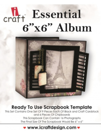 icraft - Essential 6x6 album - Ready to Use Scrapbook Template.