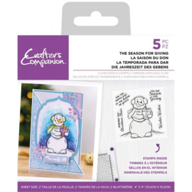 Crafter's Companion Clearstamp Snowman - The Season for Giving