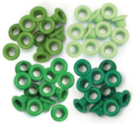 We R Memory Keepers Green Crop-A-Dile Standard Eyelet (60pcs) (41576-3)