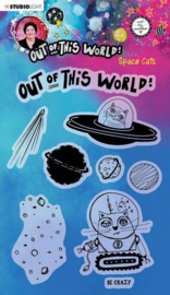 Studio Light A5 Clear Stamp ABM Out of this World nr.71