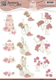 3D Knipvel - Jeanines Art - Huwelijk CD10598