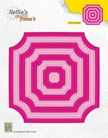 """Nellie snellen MFD130 """"Stitched cornerless squares"""""""