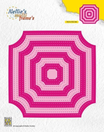 "MFD130 ""Stitched cornerless squares"""