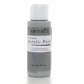 Docrafts - Acrylic Paint (2oz) - Dark Grey