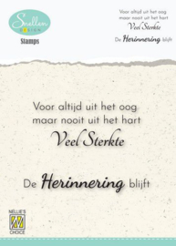 Nellie's Choice Clear Stamps - (NL) Voor altijd uit het oog… Dutch Condolence Text Clear Stamps 72x52mm