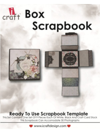 icraft - Box Scrapbook - Ready to Use Scrapbook Template.