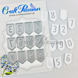Craft passion Set of Craft Dies banners with numbers