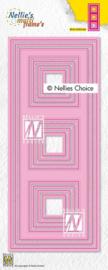 "Nellie choice MFD140 Multi Frame Dies ""Slim lines-squares"" 87,5x212,5mm"
