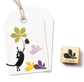Cats on Appletrees - 2363 - Stempel - Kastanje blad 2