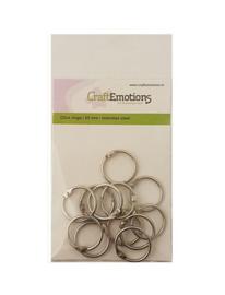 CraftEmotions Klik ringen / boekbindersringen 25mm 12 st 430603/3425