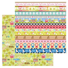 5953: down on the farm double-sided cardstock