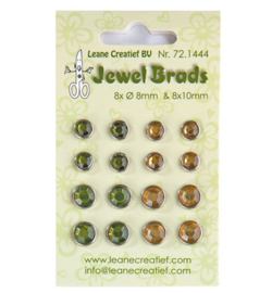 Leane Creatief - Jewel Breads - Moss green / light gold