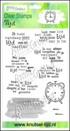 Anna Gretha Design - Stempelset Tijd