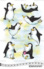 Katzelkraft  - Funny Penguins - Rubber Stamp - KTZ239