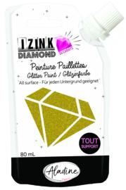 IZINK Diamond glitterverf/pasta 24 karaat- 80 ml, lichtgoud