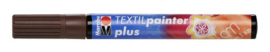 Marabu Textil painter - plus punt 3 mm - Middenbruin