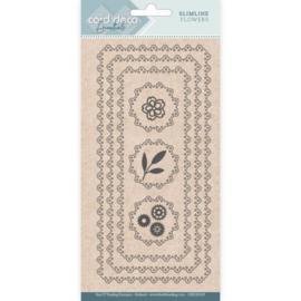 Card Deco Essentials - CDECD0105 - Slimline Dies - Slimline Flowers