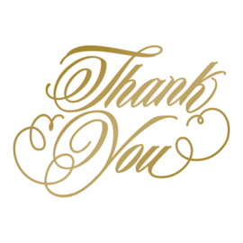 Thank You Hotfoil Stamp - Size: 63.7 x 44.7mm