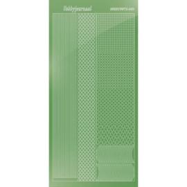 Hobbydots sticker - Mirror - Lime