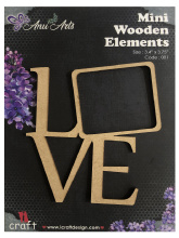 Icraft Mini wooden elements 001 (love)