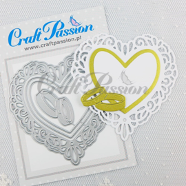 Craft passion Set of Craft Dies heart doily