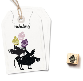 Cats on Appletrees - 2328 - Ministempel - Cupcake