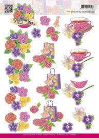 3D Knipvel - Jeanines Art - Bloemen CD10479