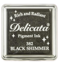 Delicata Black Shimmer Small inkpad DE-SML-382