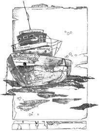 Crafty Individuals CI-559 Of the Sea Unmounted Rubber Stamps