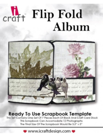 icraft - Flip Fold Album - Ready to Use Scrapbook Template.
