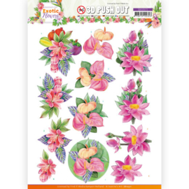 3D Push Out - SB10571 - Jeanine's Art - Exotic Flowers - Pink Flowers