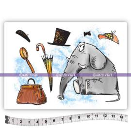 Katzelkraft - Watson olifant - Rubber Stamp - KTZ267
