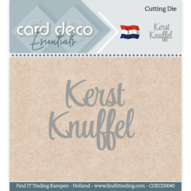 Card Deco Essentials  CDECD0040- Cutting Dies - Kerst Knuffel