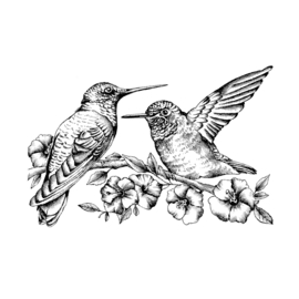 Crafty Individuals CI-509 - 'Hummingbirds amongst Blossoms'