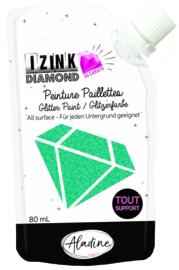 IZINK Diamond glitterverf/pasta 24 karaat- 80 ml, turquoise