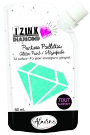 IZINK Diamond glitterverf/pasta 24 karaat- 80 ml, lichtblauw