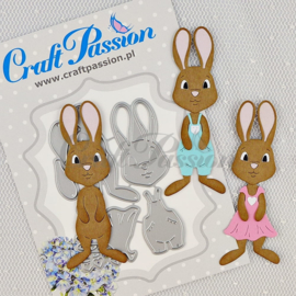 Craft passion Set of Craft Dies cute bunny