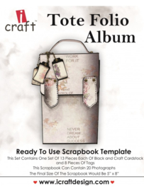 icraft - Tote Folia Album - Ready to Use Scrapbook Template.