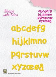 "Nellie snellen SD079 Shape Dies ""alfabet kleine letters"""