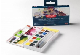 Derwent Inktense Paint Pan Travel Set 12 kleuren