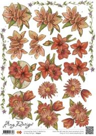 3D Knipvel - Amy Design - Vintage bloemen HJ9501