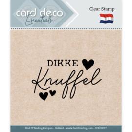 Card Deco Essentials CDECS027  - Clear Stamps - Dikke Knuffel