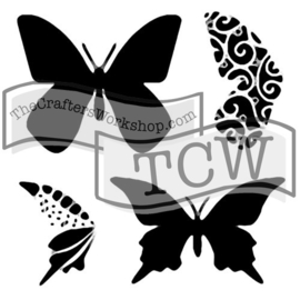 TCW 6x6 TCW291s Layered Butterflies