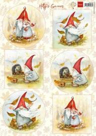 3D Knipvel - Marianne Design - Hetty's Gnomes HK1703