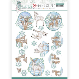 3D Push Out - Yvonne Creations - Winter Time - Deer SB10504